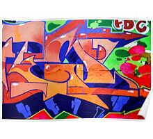 Colorful Abstract street art  Poster