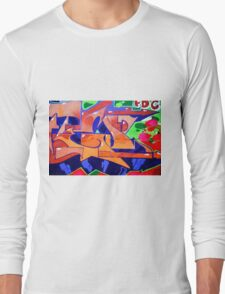 Colorful Abstract street art  Long Sleeve T-Shirt