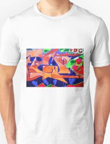 Colorful Abstract street art  T-Shirt
