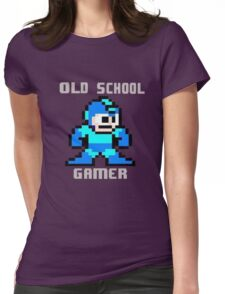 Old School Gamer Womens Fitted T-Shirt