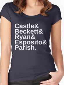 Castle & Beckett & Ryan & Esposito & Parish Women's Fitted Scoop T-Shirt