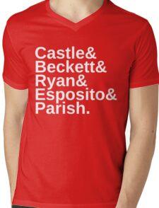 Castle & Beckett & Ryan & Esposito & Parish Mens V-Neck T-Shirt
