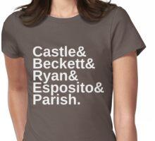Castle & Beckett & Ryan & Esposito & Parish Womens Fitted T-Shirt