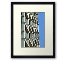 Abstract architecture with blue sky background. Framed Print