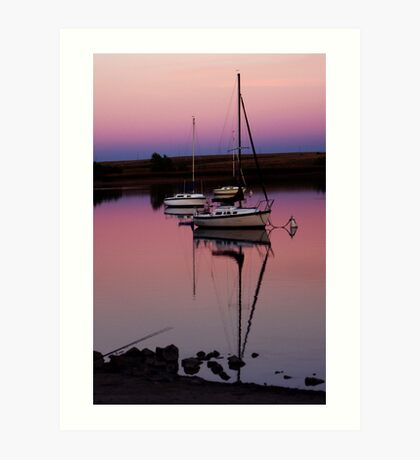 Sunset. Yachts at Aurora Reservoir. Denver. Colorado. USA. Photo 9 Art Print