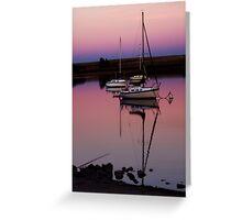 Sunset. Yachts at Aurora Reservoir. Denver. Colorado. USA. Photo 9 Greeting Card