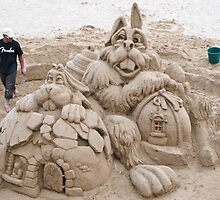 sandcastle by Anne Scantlebury