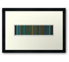 Blade Runner ( Horizontal ) - Movie Poster - The Colors Of Motion Framed Print