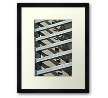 Abstract architecture. Photographed in tel Aviv, Israel  Framed Print