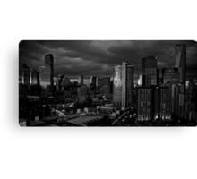 Early Morning Melbourne B & W Canvas Print