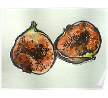 Figs: halved. Pen and wash. 2012. Ⓒ Poster
