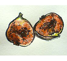 Figs: halved. Pen and wash. 2012. Ⓒ Photographic Print