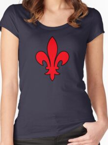 lys  france roi royale Women's Fitted Scoop T-Shirt