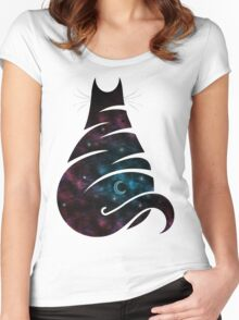CAT CELESTIAL Women's Fitted Scoop T-Shirt