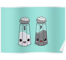 Kawaii Salt & Pepper Poster