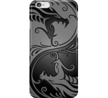 Yin Yang Dragons Gray and Black iPhone Case/Skin