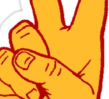 USC Fight On Hand Sign Sticker