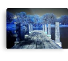 Infrared Dock Metal Print