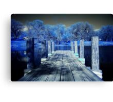Infrared Dock Canvas Print