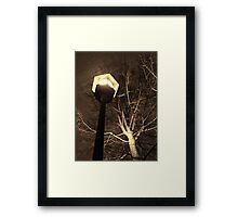 Snowstorm in Seattle Framed Print