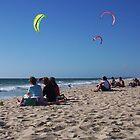 KIte Surfing At Brighton Beach Scarborah by robertemerald