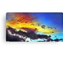Upper level Sunset Canvas Print