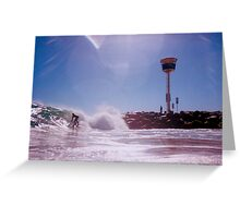 Surfer At City Beach Groyne Greeting Card