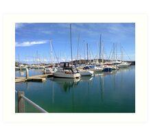 Coffs Harbour Marina. Art Print