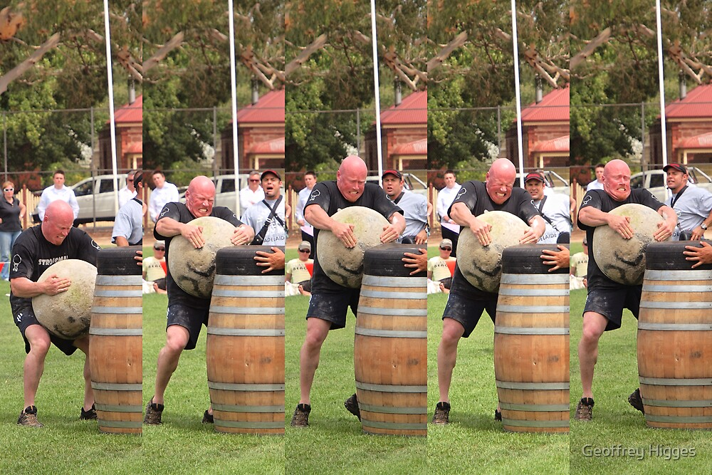 Highland Games - Lifting the Millstone by Geoffrey Higges