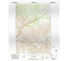 USGS Topo Map Washington State WA Fields Spring 241138 1995 24000 Poster