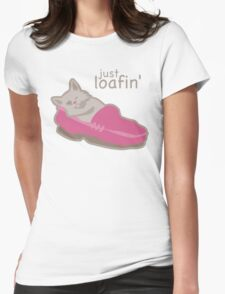Just Loafing' Cat in Pink Loafer Shoe T-Shirt