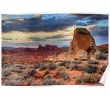White Domes Canyon - Valley of Fire Poster