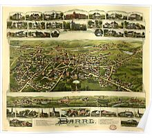 Panoramic Maps Barre Massachusetts Poster
