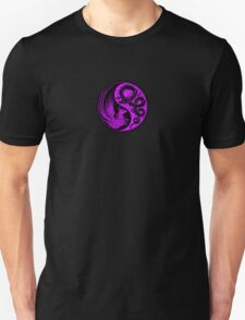 Purple and Black Dragon Phoenix Yin Yang T-Shirt