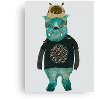 cookie and big blue Canvas Print
