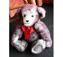 Red Ribbon Bear Photographic Print