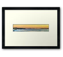 The Harbour Glows Framed Print