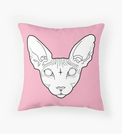 Sphynx Cat Throw Pillow