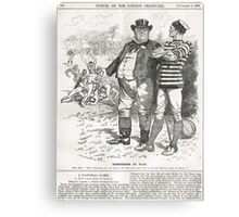 John Bull Brutal Rugby satire Punch 1888 Canvas Print