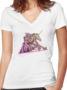 Silverback & Horn Women's Fitted V-Neck T-Shirt