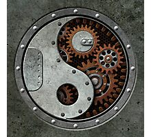 Industrial Steampunk Yin Yang Photographic Print