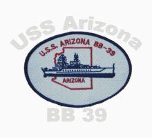 USS Arizona (BB-39) Crest for Dark Backgrounds Baby Tee