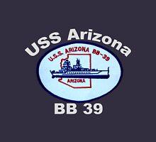 USS Arizona (BB-39) Crest for Dark Backgrounds Unisex T-Shirt
