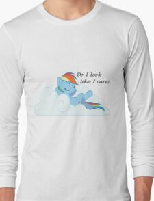 Rainbow Dash Chilling On a Cloud Long Sleeve T-Shirt