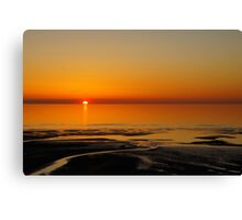 Lancashire Beach Canvas Print