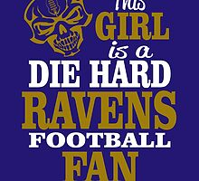 This Girl Is A Die Hard Ravens Football Fan. by sports-tees