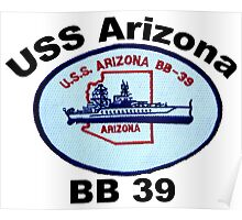 USS Arizona (BB-39) Crest Poster