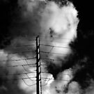 Power Pole and Clouds by Noel Elliot