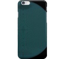 Wire Globe Full Blue Black iPhone Case/Skin