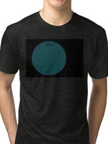 Wire Globe Full Blue Black Tri-blend T-Shirt